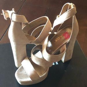 Coach Suede 'Marina' Strappy Platform Sandal